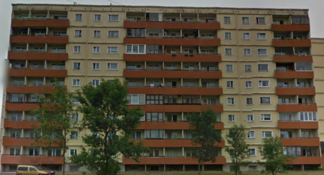"""""""Новая"""" серия 111-133, Тарту. Задний фасад"""