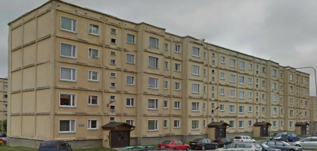 "5-этажная ""новая"" 111-133, Тарту. Передний фасад"