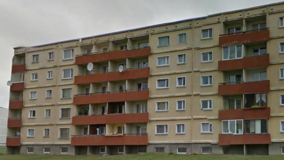 """5-этажная """"новая"""" 111-133, Тарту. Задний фасад"""
