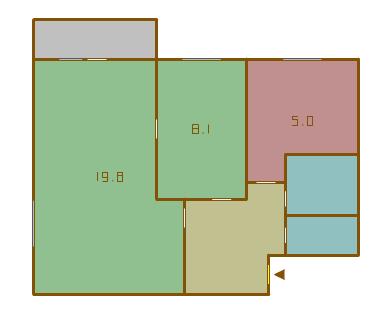Двухкомнатные квартиры в домах серии 1-511