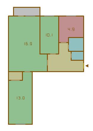 Планировки трехкомнатных квартир в домах серии 1-511/8