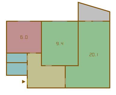 планировка двухкомнатных квартир в домах серии 1-515/9ЮЛ