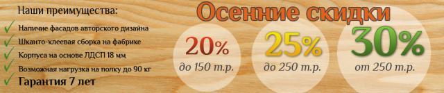 Салон кухонь запускает осеннюю акцию в Крыму