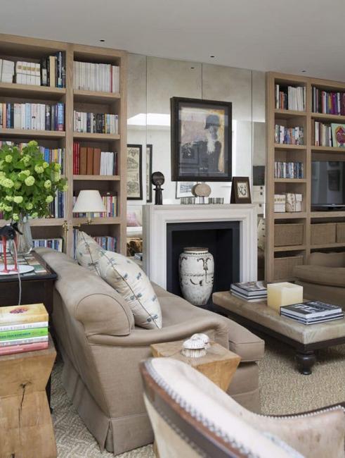 Дизайн квартиры в стиле британской классики с элементами шебби-шика