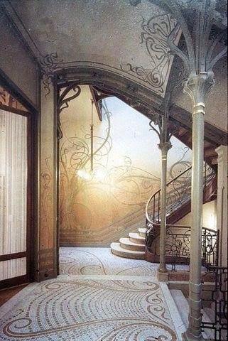 Элементы ар нуво в интерьере и фасадах домов