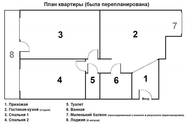 Пятиэтажка, кирпич серия 85-08/1
