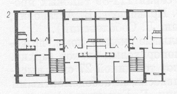 Серия 88 проект 111-88-3, -7 - планировка квартир, 5-ти этажка 85-го года. 6 подъездов, торцевые лоджии