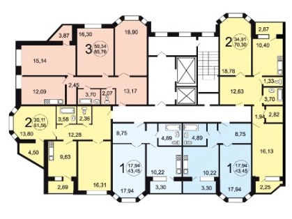 Поэтажные планировки серии И-79-99