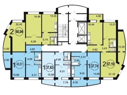 Серии домов 17.03-85к, 17.03-68к - планировки квартир