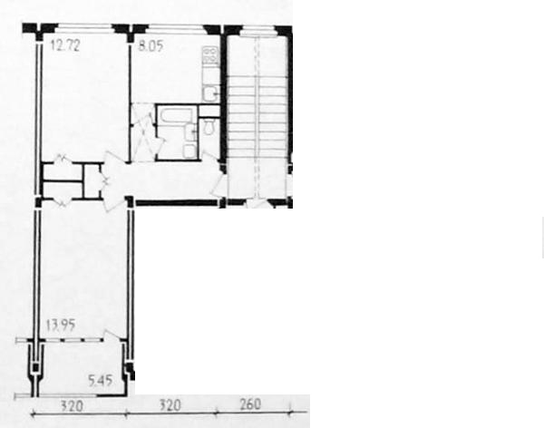 планировки двухкомнатных квартир у недавно рассмотренной серии 1-335А