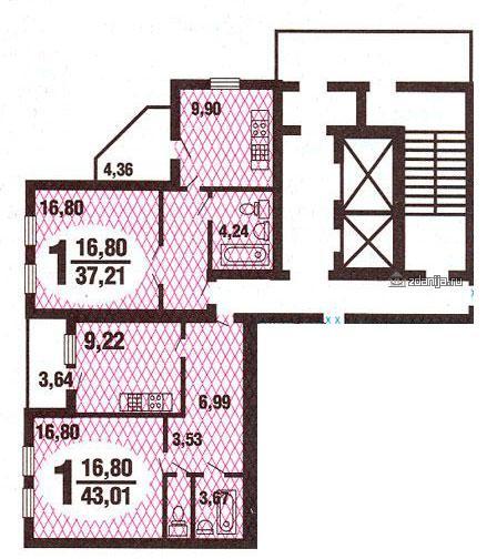 однокомнатной квартиры ГМС-3