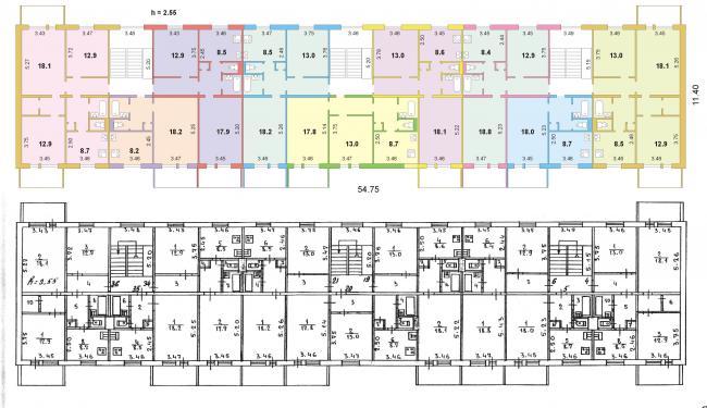 """серия домов 182 """"Мобиль"""", планировка квартир (отр.адм.) Помогите определить серию дома"""