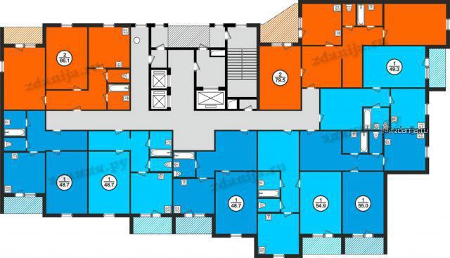 Дома серии 134 (АППС), планировки квартир