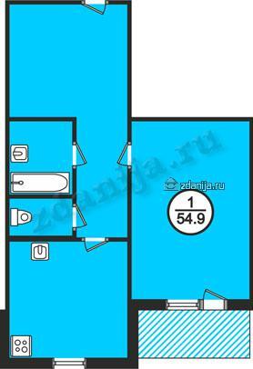 планировка однокомнатных квартир в домах серии 134