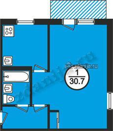 планировка однокомнатных квартир в домах серии 1-464