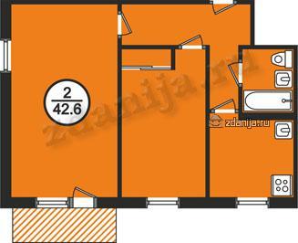 планировки двухкомнатных квартир в домах серии 1-464