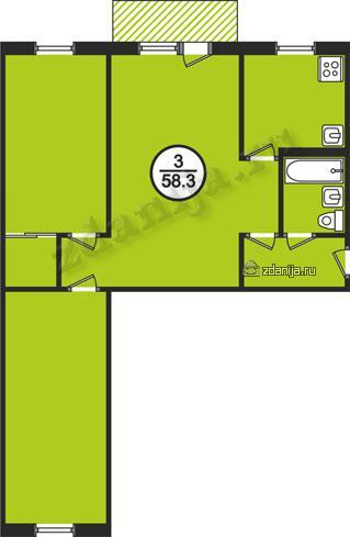 планировки трехкомнатных квартир в домах серии 1-464