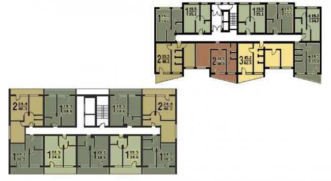 Стандартные планировки II-68-02