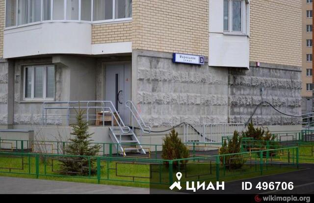 Москва, улица Маресьева, дом 3, Серия П-44т (ЮВАО, район Некрасовка)