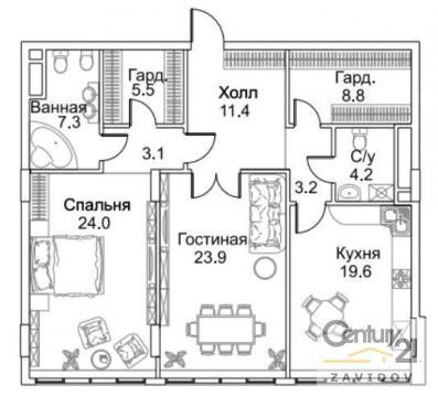 Москва, Большая Пироговская улица, дом 8, ЖК «Barrin House» (ЦАО, район Хамовники)