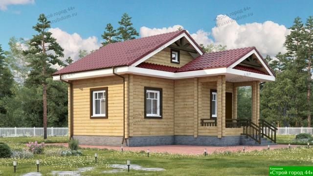 """Услуги по строительству деревянных домов и бань """"под ключ"""""""
