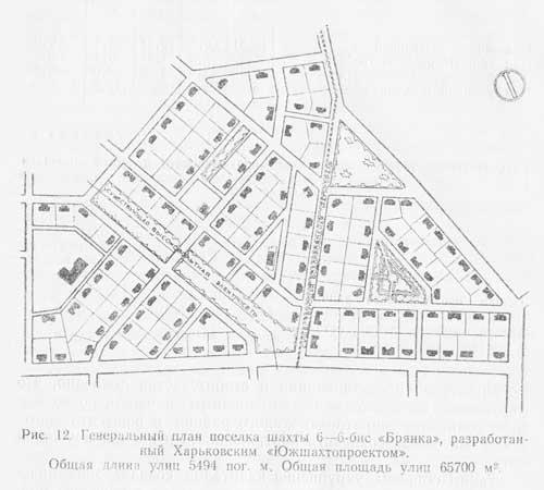 генеральный план посёлка Шахты