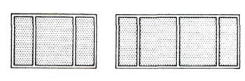 членения окна вертикальными переплётами