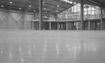Промышленные бетонные полы с упрочненным верхним слоем в выставочном комплексе