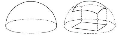Сферический купол Опорный купол