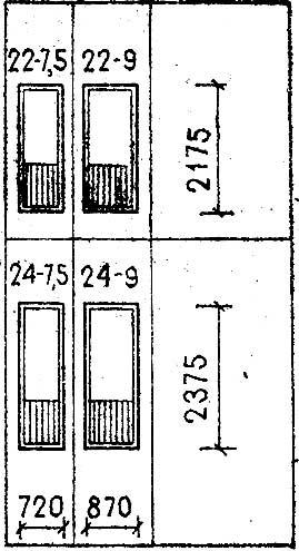 Типы и габаритные размеры балконных дверей жилых зданий ( CCCР и Россия )