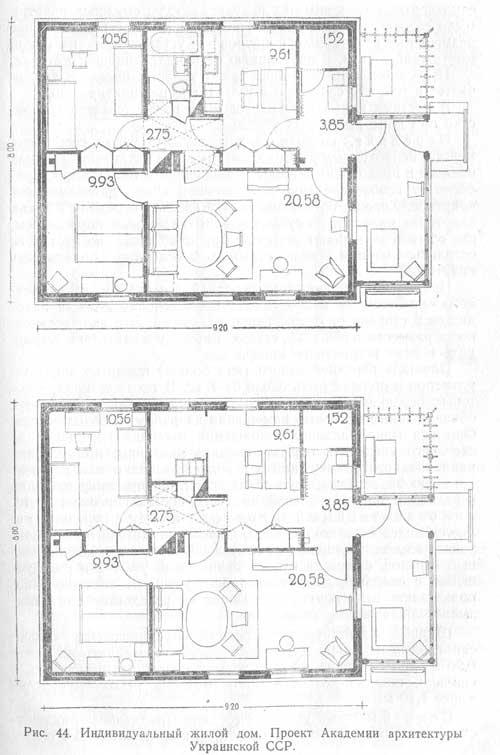 планировки помещений индивидуальных жилых домов