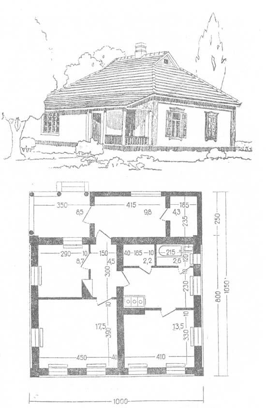 жилой дом с планировками комнат и помещений