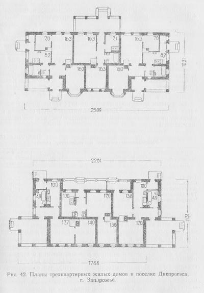 планы трехквартирных жилых домов