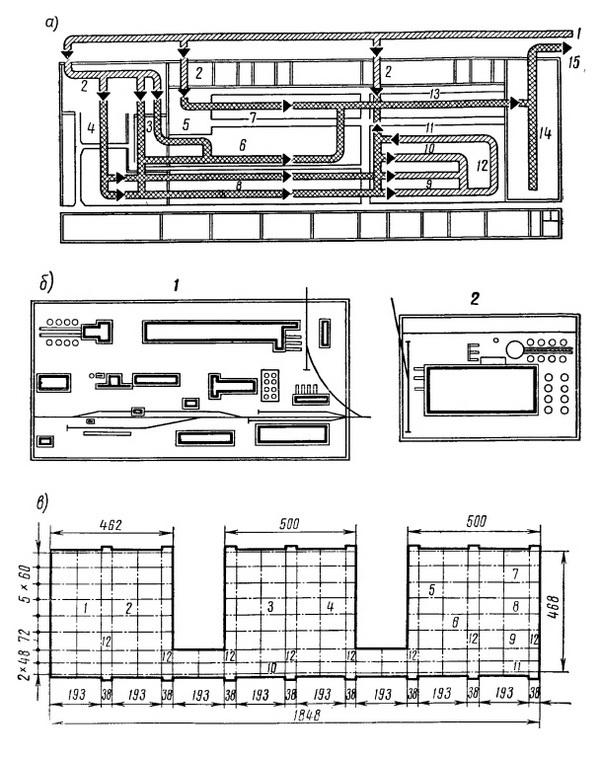 Схемы планировок промышленных