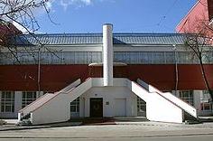 советский конструктивизм - Клуб фабрики Свобода, автор - К. Мельников, Москва