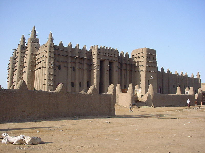 Южно-сахарская африканская исламская архитектура , мечеть Дженне