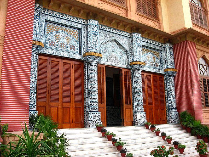 исламская архитектура - Вход во Дворец Мохатта в Карачи