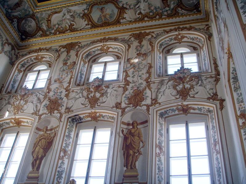 интерьер Большого дворца в Петергофе, рококо