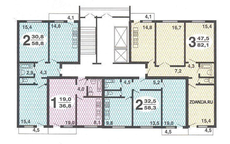 Типовые схемы квартир в