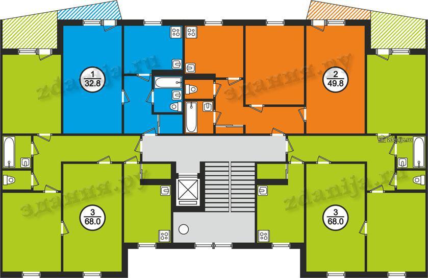 121 серии планировки квартир в домах - 121 серия.