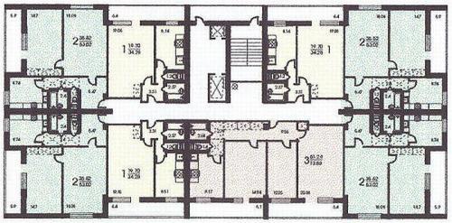 Планировки квартир - Дома серии башня Вулыха