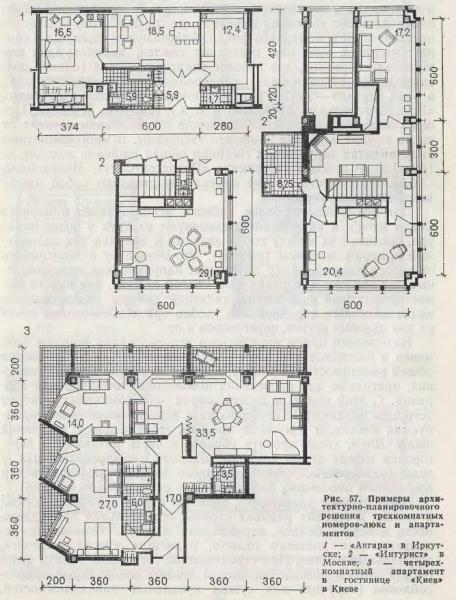 Примеры планировки трехрехкомнатных номеров люкс и апартаментов. - Фото пользователей сайта фото