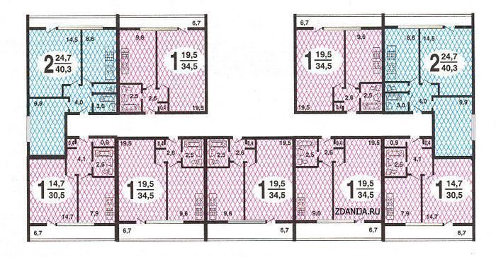 дома серии II-68, планировки квартир