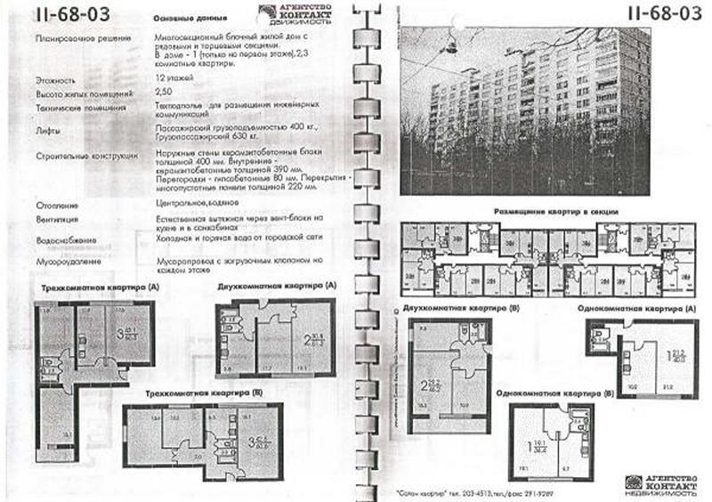 """Фото для """"Дома серии II-68-03, планировки квартир"""""""