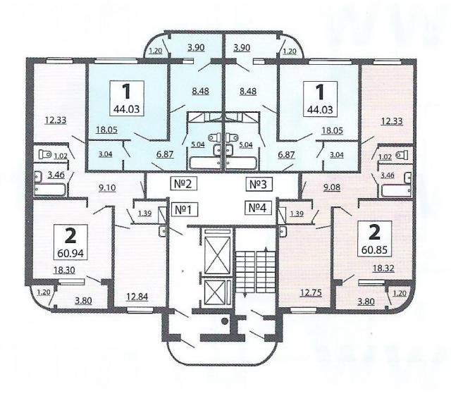 """Фото для """"Жилые дома серии п-111М, планировки квартир с размерами"""""""