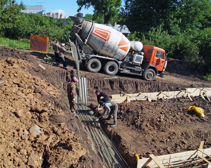 Бетонные работы при строительстве зданий