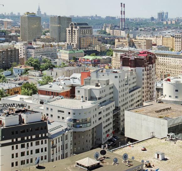 Москва, крыши домов - Типы домов и зданий фото