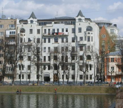 Москва, Малая Бронная улица, 32, жилое здание  [ Москва, ЦАО, Патриаршие пруды ] стиль: модерн - Жилые дома фото