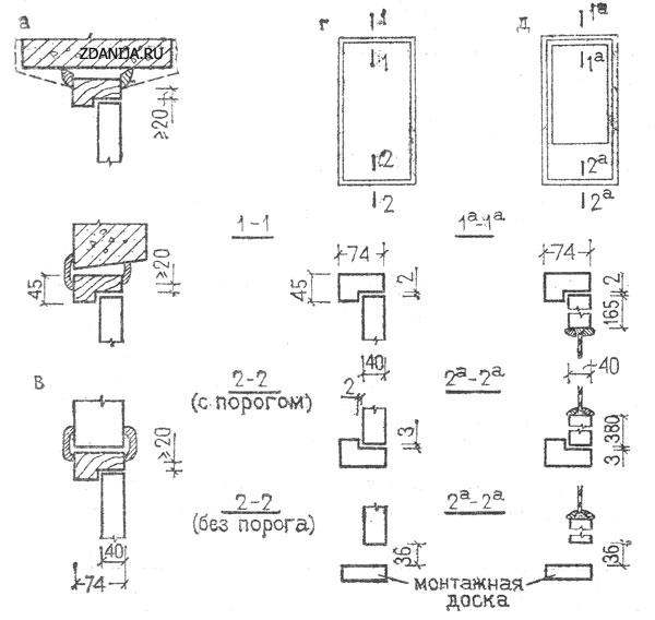 Схемы установки дверных блоков во внутренних стенах - Двери фото