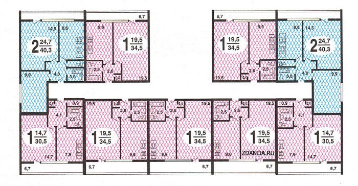 типовые планировки квартир II-68 - II 68 серия жилые дома фото